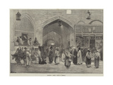 Sketches in Persia, Bazaar at Teheran Giclee Print by Felix Regamey