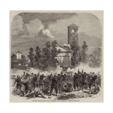 The War, Attack on the Church of Magenta Giclée-Druck von Frank Vizetelly