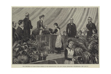 The Princess of Wales Giving Prizes at the Metropolitan and City Police Orphanage, Twickenham Giclee Print by Frank Dadd