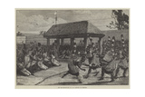 The Logunkayau-Wa, or Tail Dancers of Dahomey Giclee Print by Felix Regamey