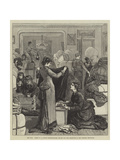 The War, Scene in a London Drawing-Room, Relief for the Destitute in the Turkish Provinces Giclee Print by Francis S. Walker