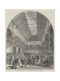 New Flower Market, Covent Garden, in Course of Construction Giclee Print by Frank Watkins