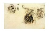Figure Studies Giclee Print by Ferdinand Victor Eugene Delacroix