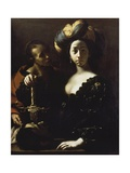 Judith with Head of Holofernes, 1630-1635 Giclee Print by Francesco Cairo