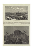The George Stephenson Centenary at Newcastle-On-Tyne Giclee Print by Frank Watkins