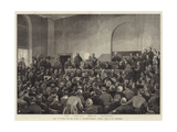 Trial of Guiteau for the Murder of President Garfield, General View of the Court-Room Giclee Print by Frank Dadd