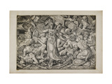 Victoria Surrounded by Prisoners and Trophies, 1552 Giclee Print by Frans Floris