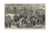 Shrovetide in Paris as it Used to Be, Procession of the Boeuf Gras Giclee Print by Felix Regamey
