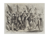 Neapolitans Proceeding to Record their Votes for Annexation Giclée-Druck von Frank Vizetelly
