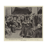 The Khedive's Visit to the City, Receiving the Address of Welcome Reproduction procédé giclée par Frank Dadd