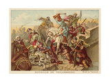 Battle of Taillebourg, France, 1242 Giclee Print by Ferdinand Victor Eugene Delacroix