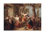 The Swing, 1848 Giclée-Druck von Francois Verheyden