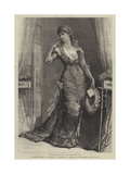 Madame Modjeska as Constance, in Heartsease, at the Royal Court Theatre Giclee Print by Francis S. Walker