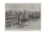 Events in Paris, Military Precautions at Longchamps Races Giclee Print by Frank Dadd