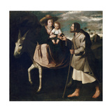 The Flight into Egypt Giclee Print by Francisco de Zurbaran