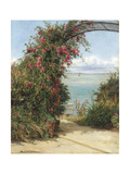 A Garden by the Sea Giclee Print by Frank Topham