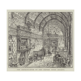 The Smoking-Room of the Oxford Union Society Giclee Print by Frank Watkins