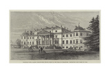 Wrotham Park, Barnet (South-West Front), Seat of the Earl of Strafford, Destroyed Last Week by Fire Giclee Print by Frank Watkins