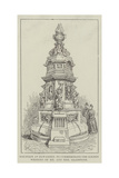 Fountain at Hawarden, to Commemorate the Golden Wedding of Mr and Mrs Gladstone Giclee Print by Frank Watkins