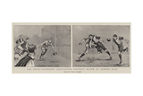 The Inter-University Association Football Match at Queen's Club Giclee Print by Frank Gillett