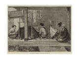 Embroidering Sarangs in Sumatra Giclee Print by Felix Regamey