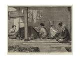 Embroidering Sarangs in Sumatra Giclee Print by Felix Regamey