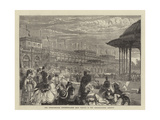 The International Exhibition, the Band Playing in the Horticultural Gardens Giclee Print by Francis S. Walker