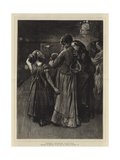 Gone, Euston Station Giclee Print by Frank Holl