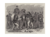 Searching Neapolitan Prisoners at St Angelo Giclee Print by Frank Vizetelly