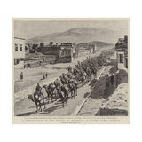 A Common Scene in the Streets of Erzeroum, a Passing Camel Caravan Giclee Print by Frank Dadd
