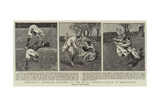 England V Scotland, Sketches at the Rugby Football Match at Blackheath Giclee Print by Frank Gillett