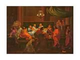 Das letzte Abendmahl Giclée-Druck von Francois Verdier