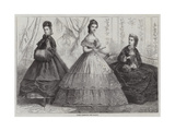 Paris Fashions for March Giclee Print by Frederic Theodore Lix