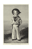 H R H the Prince of Wales at the Age of Six Giclee Print by Franz Xaver Winterhalter