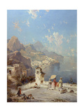 Overlooking Amalfi Giclee Print by Franz Richard Unterberger