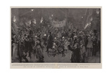 The Relief of Ladysmith, Extraordinary Scene of Enthusiasm in Pall Mall Giclee Print by Frederic De Haenen
