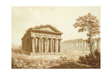 The Temple of Neptune and the Basilica at Paestum Giclee Print by Franz Kaisermaan
