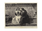 Recruiting for Savonarola, Ye Cannot Serve God and Mammon Giclee Print by Frank W. W. Topham