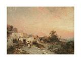 La Tarantella, Posilipo, Naples, C.1895 Giclee Print by Franz Richard Unterberger