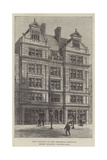 New Building of the Birkbeck Institute, Bream's Buildings, Chancery-Lane Giclee Print by Frank Watkins