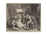 Burial of Harold at Waltham Abbey Giclee Print by Frederick Richard Pickersgill