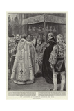 The Archbishop of Canterbury Anointing the King Reproduction procédé giclée par Frank Dadd