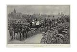The Review of the Colonial Coronation Contingents on the Horse Guards Parade Reproduction procédé giclée par Frederic De Haenen