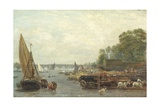 Westminster Bridge, C.1820-30 Giclee Print by Frederick Nash