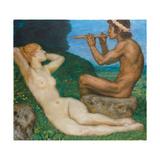 Spring Love; Liebesfrhling, 1917 Gicleetryck av Franz von Stuck