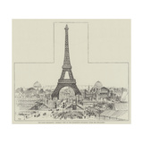 The Paris Exhibition, General View of the Exhibition Buildings, from the Trocadero Giclee Print by Frank Watkins