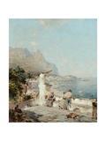 Capri, Golfe De Naples Giclee Print by Franz Richard Unterberger