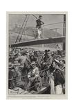 Boer Prisoners on Board H M S Penelope Reproduction procédé giclée par Frederic De Haenen