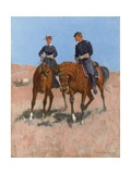 Belle Mckeever and Lt. Edgar Wheelock, C.1899 Giclee Print by Frederic Remington