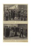 The Departure of the Duke of Cornwall and York Reproduction procédé giclée par Frederic De Haenen